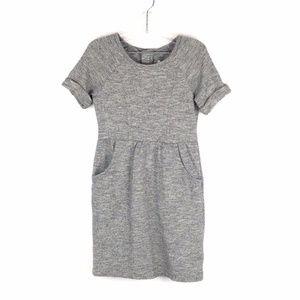Joe Fresh Girls Gray Short Sleeve Dress Size 4-5